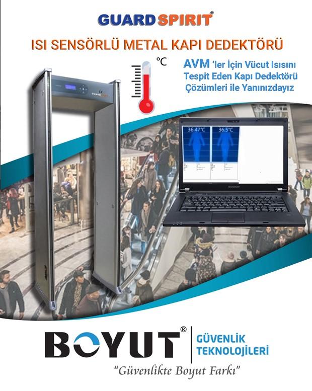 Guard Spirit Isı Sensörlü metal kapı dedektörü